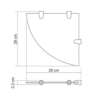 Полка стеклянная угловая WasserKRAFT K-533