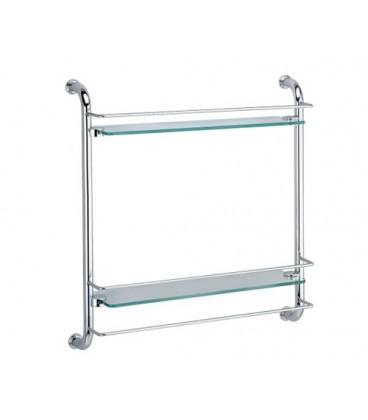 Полка стеклянная двойная WasserKRAFT K-2022