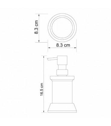 Дозатор для жидкого мыла, 170 ml тёмная бронза WasserKRAFT K-2399