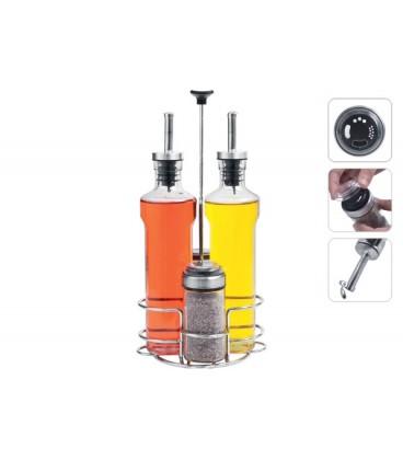 Набор бутылок для масла, уксуса и ёмкостей для специй PETRA NADOBA 741015