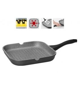 Сковорода-гриль с мраморным покрытием GRANIA 28*28 см + щипцы