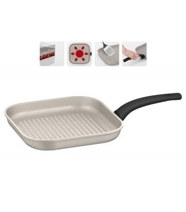 Сковорода-гриль с антипригарным покрытием MARMIA 26*26 см + щипцы