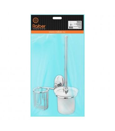 Ерш стеклянный и держатель для дезодоранта Raiber R70118 настенный