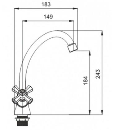 Смеситель для кухни Raiber Ventis с двумя рукоятками R7003