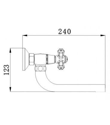 Смеситель для кухни Raiber Ventis с двумя рукоятками, настенный R7005