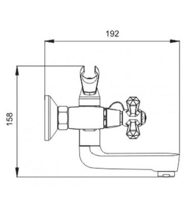 Смеситель для ванны Raiber Ventis с двумя рукоятками R7006