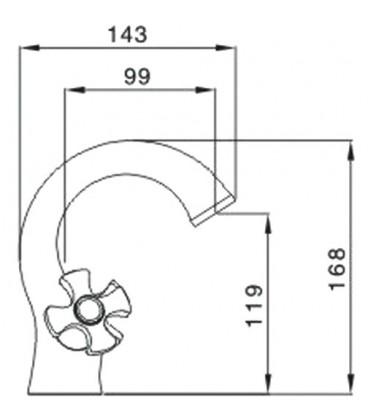 Смеситель для раковины Raiber Talis с двумя рукоятками R8001