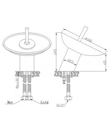Смеситель для раковины Raiber Cascade R8501