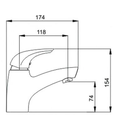 Смеситель для раковины Raiber Zenta однорычажный R9001