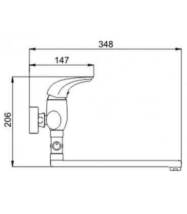Смеситель для ванны Raiber Zenta однорычажный R9002