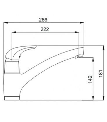 Смеситель для кухни Raiber Zenta однорычажный R9003