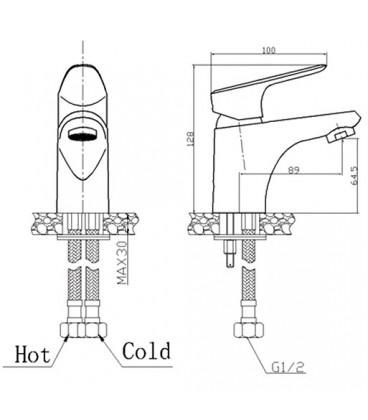 Смеситель для раковины Raiber Metris однорычажный R5501