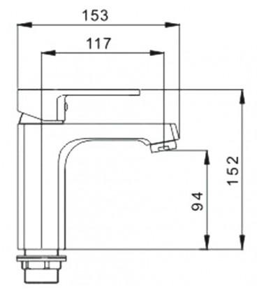 Смеситель для раковины Raiber Quattro однорычажный R6001
