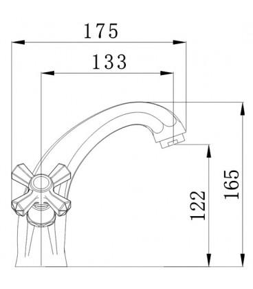 Смеситель для раковины Raiber Ventis с двумя рукоятками R7001