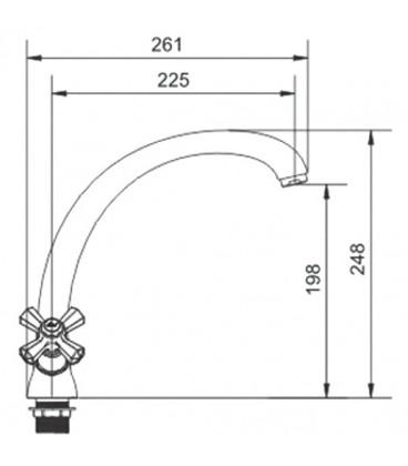 Смеситель для кухни Raiber Ventis с двумя рукоятками R7002
