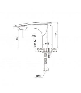 Смеситель для раковины Raiber Dunis R1201