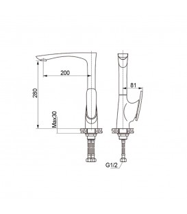 Смеситель для раковины Raiber Dunis R1202
