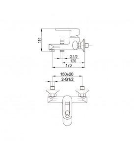 Смеситель для ванной Raiber Pikus R1402