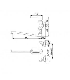 Смеситель для ванной Raiber Pikus R1403