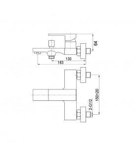 Смеситель для ванной Raiber Zuks R1602
