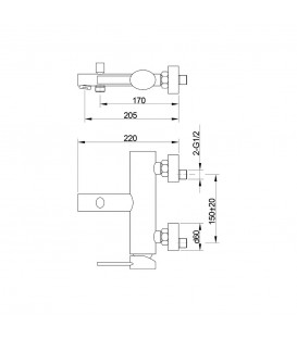 Смеситель для ванной Raiber Kimber R1702