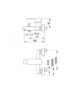 Смеситель для ванной Raiber Grats R1801