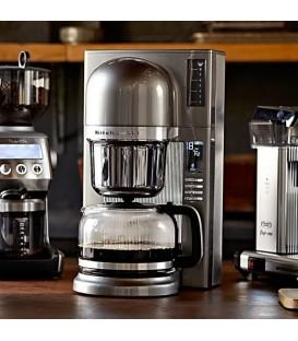 Капельная кофеварка пуровер KitchenAid серебристая 5KCM0802ECU