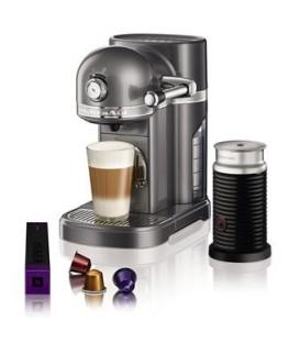 Кофемашина KitchenAid Artisan Nespresso с Aeroccino серебряный медальон 5KES0504EMS